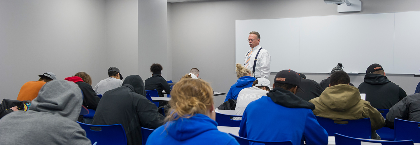 Dr. Jeff Walls leading a class