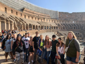 students in the colosseum