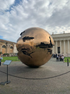 Fractured sphere sculpture in the Vatican